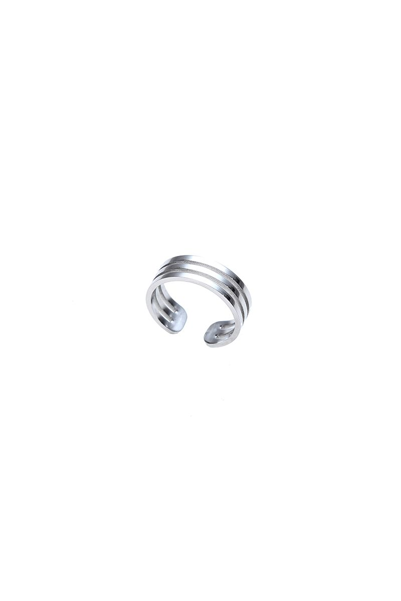 The Sleek 3 Rows Ring White Gold