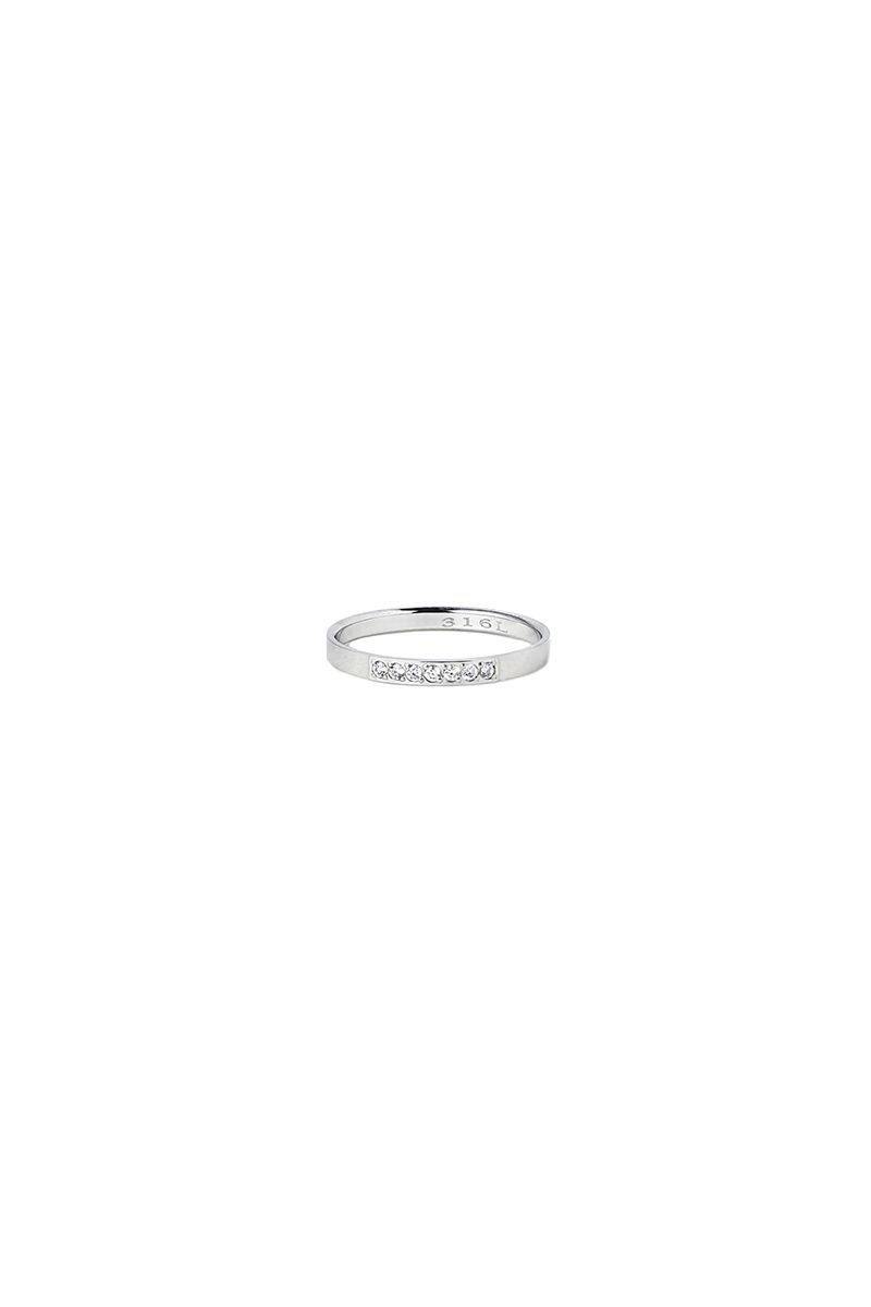 The Sleek 7 Stones Ring White Gold