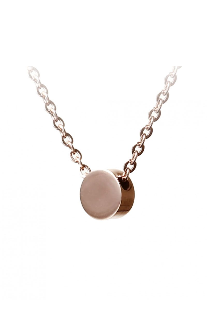 The Sleek Disc Pendant Necklace Rose Gold